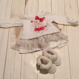 Gingerbread Girl Dress with Booties
